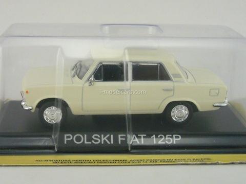 Polski Fiat 125P white 1:43 DeAgostini Masini de legenda #27