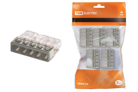 Строительно-монтажная клемма КБМ-2273-235 (2,5мм2) с пастой (5 шт/упак) TDM