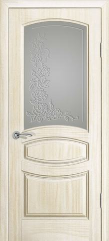 Дверь Океан Neo Classica Изабелла , стекло белое, цвет ясень белый жемчуг, остекленная