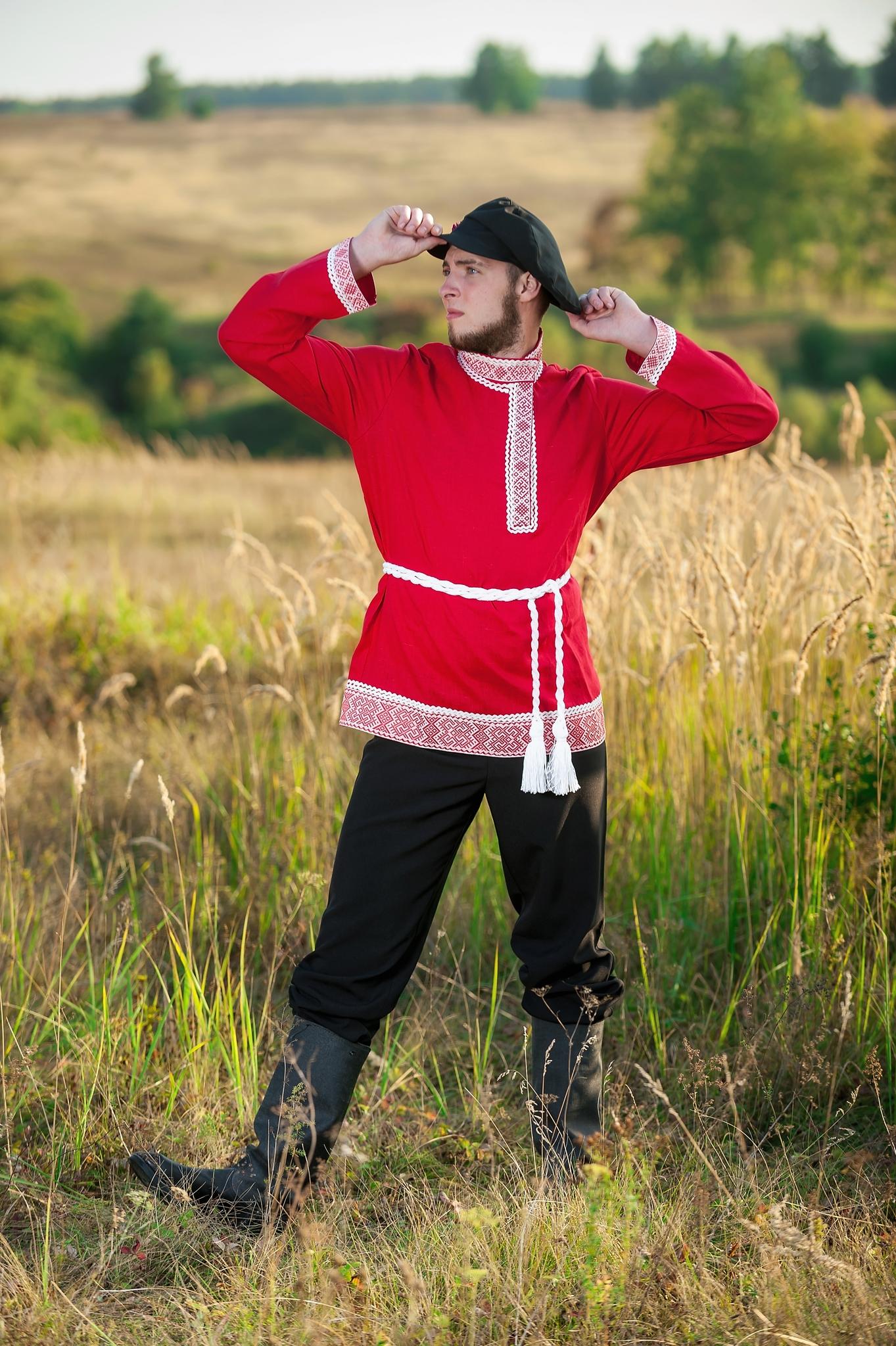 Русский костюм Звонкая песня с поясом