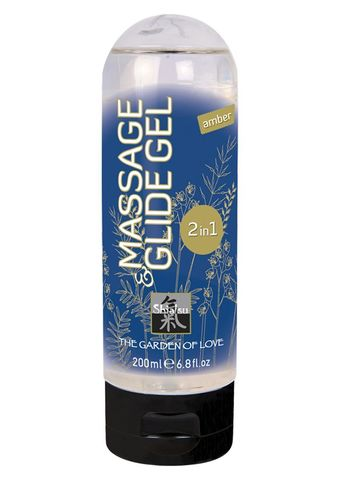 Массажный гель Massage   Glide Gel 2 in 1 Amber (200 мл)