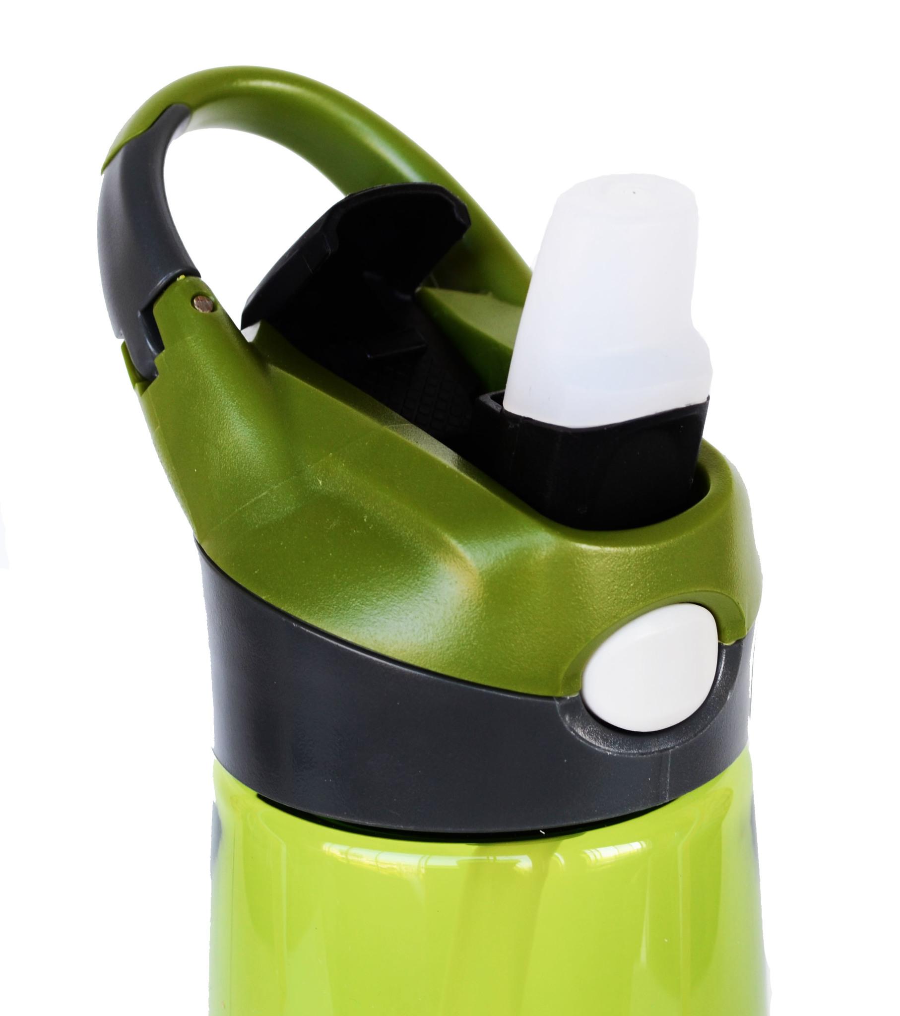 Бутылка для воды Muggs Flip Straw с трубочкой 400 мл. зеленая