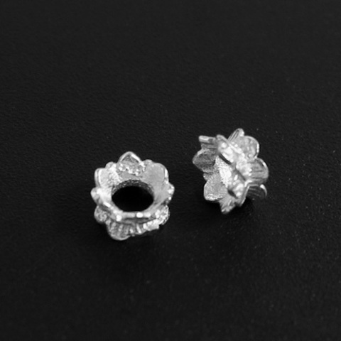 Рондель разделитель Лотос 5,5х3,3 мм серебро 925