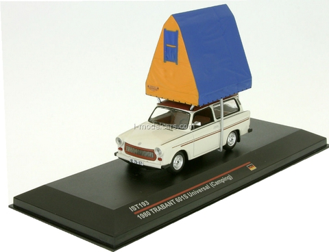 Trabant 601S Limousine Camping light grey 1980 IST188R IST Models 1:43