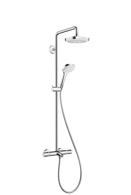 Душевой комплект с изливом Hansgrohe 27352400 Croma Select E 180 2jet Showerpipe