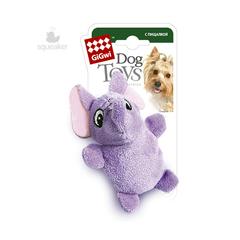 Gigwi игрушка для собак Слон с 2 пищалками 9 см