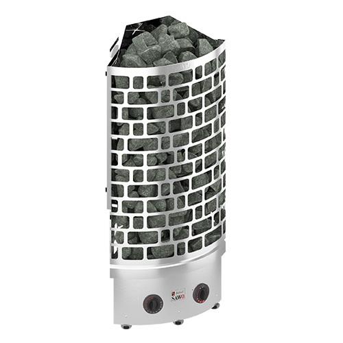 Серия Aries: Электрическая печь SAWO ARIES ARI3-90NB-CNR-P (9 кВт, встроенный пульт, угловая, нержавейка)
