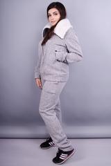 Миша. Женский повседневный костюм большие размеры. Серый.