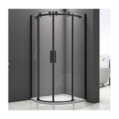Душевое ограждение Good Door Galaxy R-TD-100-C-B 100х100 см, черный профиль