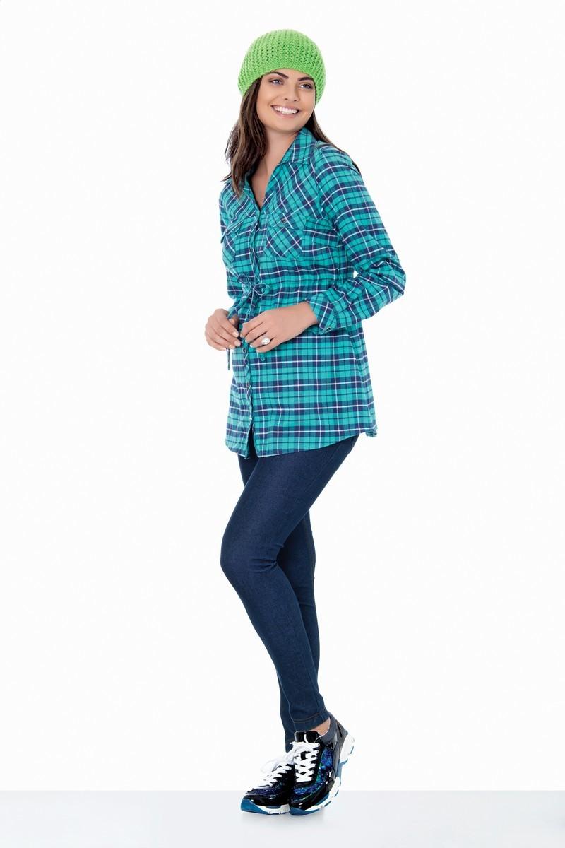 Блузка 01402 зеленый