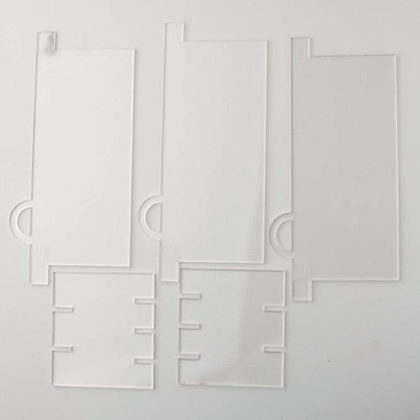 Разделители для формы прямоугольник прозрачный на 3 и 4 ячейки