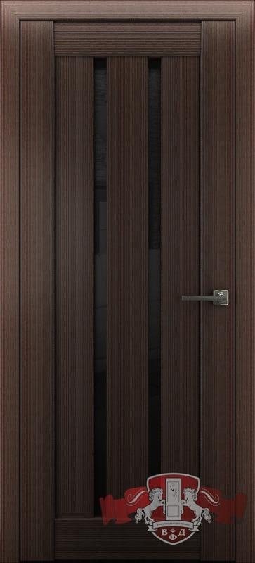 Л2ПГ4 Венге / черное стекло, Дверь межкомнатная,Владимирская Фабрика Дверей