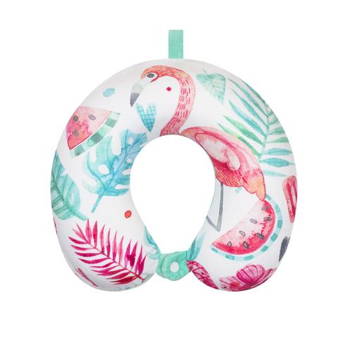 Подушка дорожная Flamingos 4