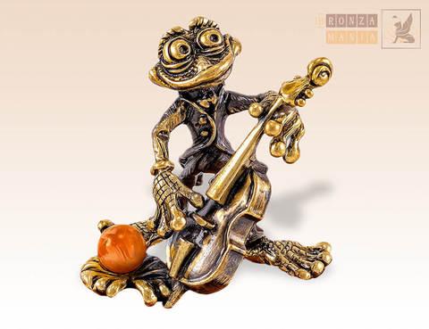 фигурка Лягушка с контрабасом