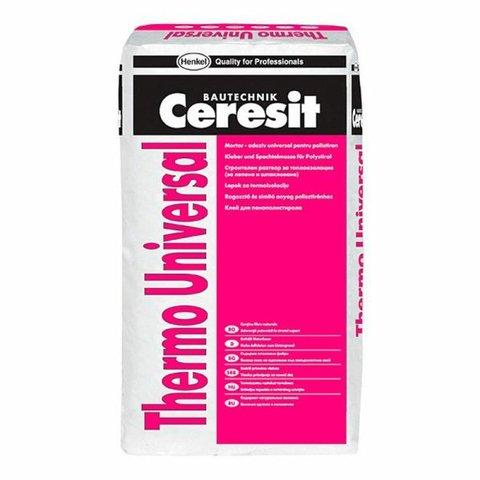 Клей для плит из пенополистирола и минер.ваты Thermo Universal 25кг Ceresit