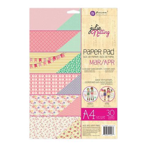 Набор  двусторонней бумаги Prima- Julie Nutting Март/Апрель - 21 х30см  -30л.