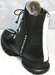Женские зимние ботинки на натуральном меху Ripka 3481 Black-White.