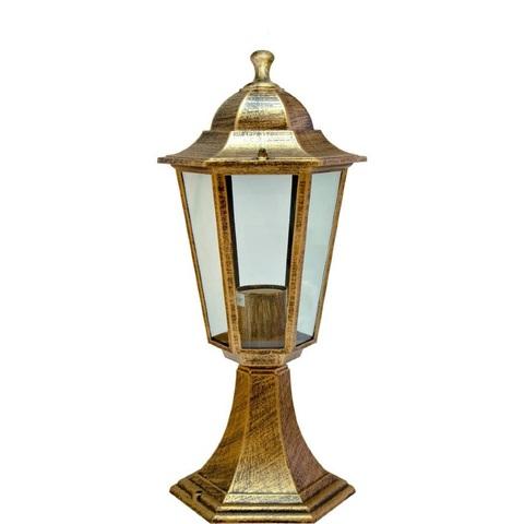 Светильник садово-парковый, 60W 230V E27 черное золото, 6104 (Feron)
