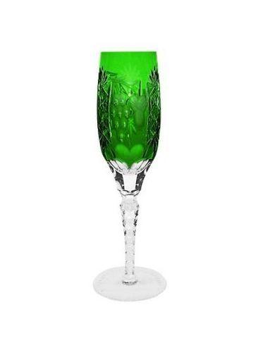 Фужер для шампанского 180мл Ajka Crystal Grape зеленый