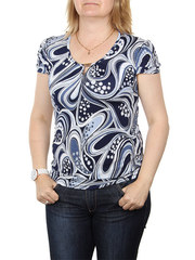 A7-5 блузка женская, темно-синяя