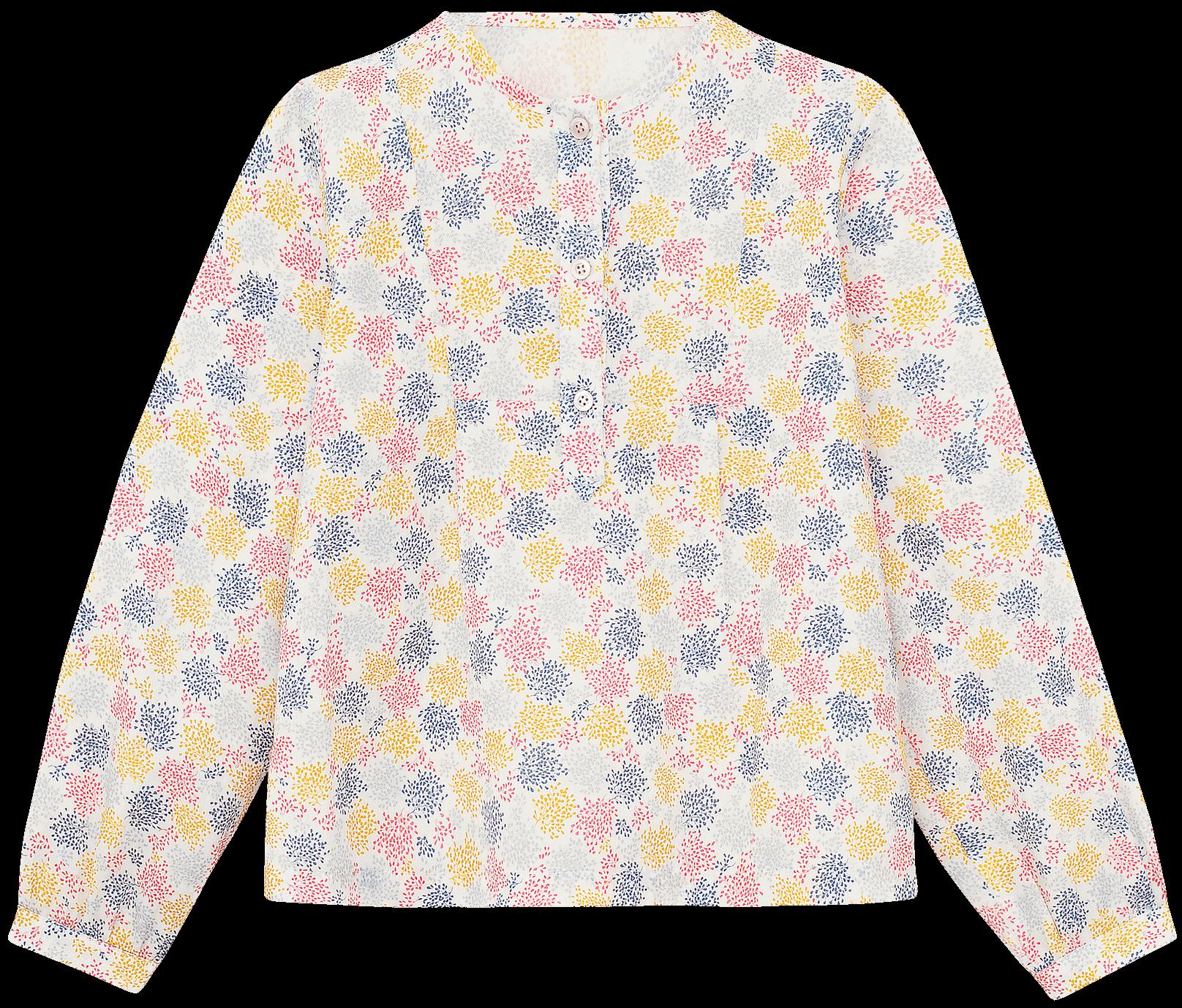 Блузка в цветной принт