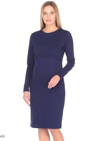 Платье 09967 темно-синий