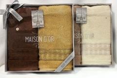 Набор полотенец  VENEZIA - ВЕНЕЗИЯ  в размере 40х70 / Maison Dor (Турция)