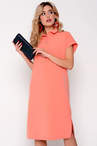 Стильное платье на каждый день. Ворот на стойке. Рукав реглан с манжетом. Силуэт свободный, с разрезами по бокам. (Длины: 44-92см; 46-93см; 48-94см; 50-96см; 52-98см)