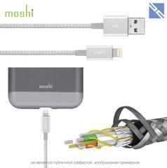 Кабель Moshi Integra lightning to USB-A повышенной прочности (кевлар) 1,2м серебряный