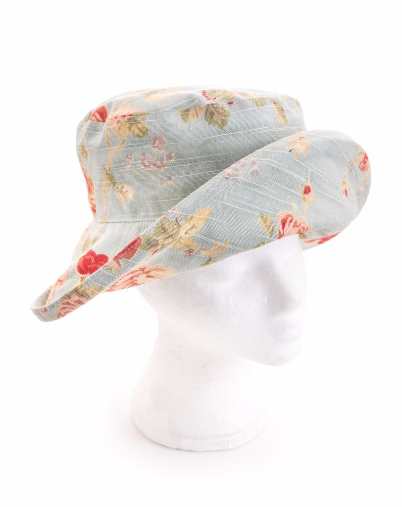 Шляпа льняная от солнца с цветочным принтом, широкие поля Bradleys