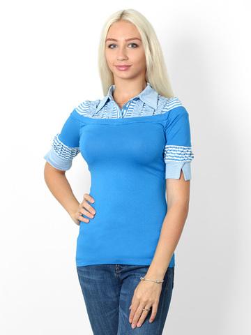 009547 кофта женская, голубая