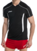 Мужская волейбольная футболка Asics T-shirt Volo (T604Z1 9001) черная фото