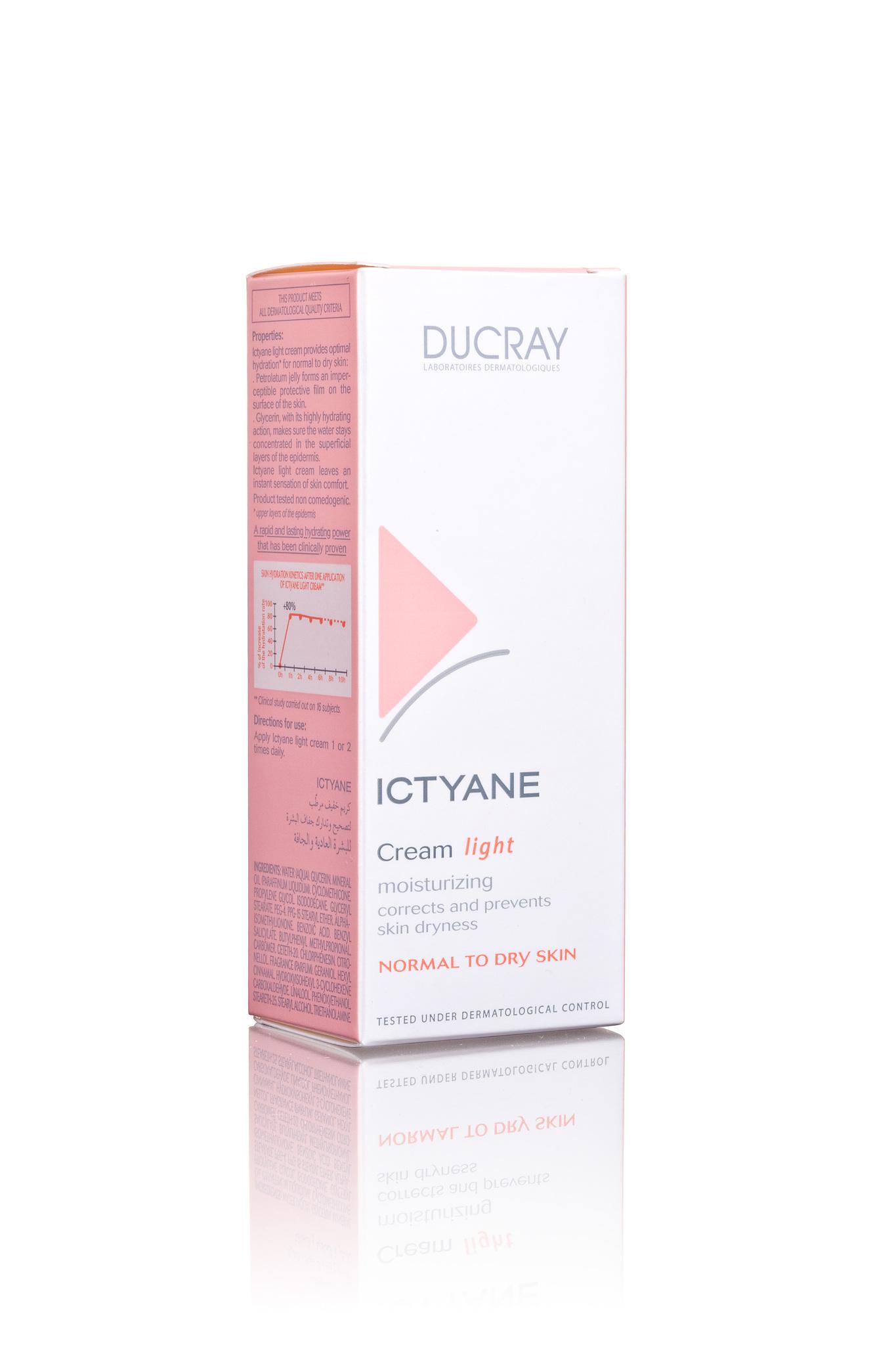 Ducray Ictyane Легкий увлажняющий крем 50 мл.