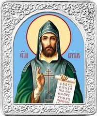 Святой Кирилл. Маленькая икона в серебряной раме.