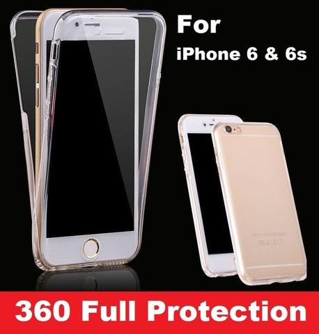 Чехол силиконовый прозрачный 360 для IPhone 5/5s/SE/6/6s/6PLUS/7