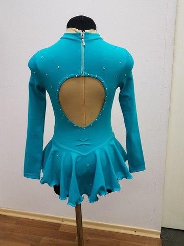 Платье для выступлений, рост 140 см (небесно-голубое)