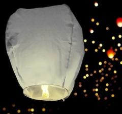 Небесный фонарик, цвет: белый