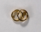 Кольцо двойное, 5 мм, позолоченное, 5 шт.