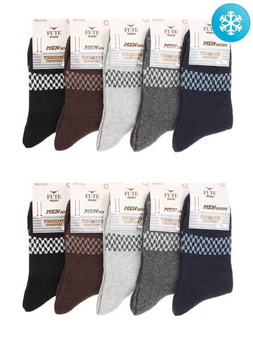 9125C носки мужские с ангорой, 40-44 (10 шт.)