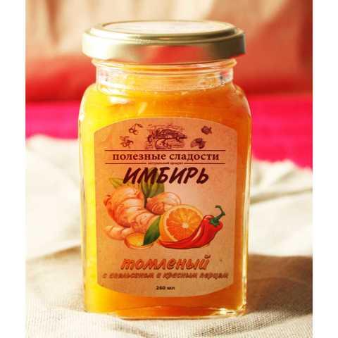 Фотография Имбирь томленый с апельсином и красным перцем / 260 мл купить в магазине Афлора