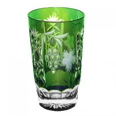 Стакан высокий 390мл Ajka Crystal Grape зеленый