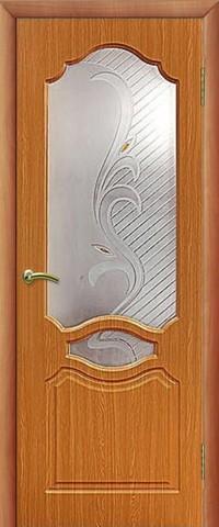Дверь Сибирь Профиль Венеция, цвет миланский орех, остекленная