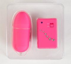 Виброяйцо с пультом ДУ розовое (3,3 х 8 см)