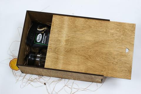 Набор кофе с туркой и френч-прессом в деревянном коробе