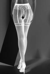Колготки с имитацией трусиков с вырезом (S012) белые