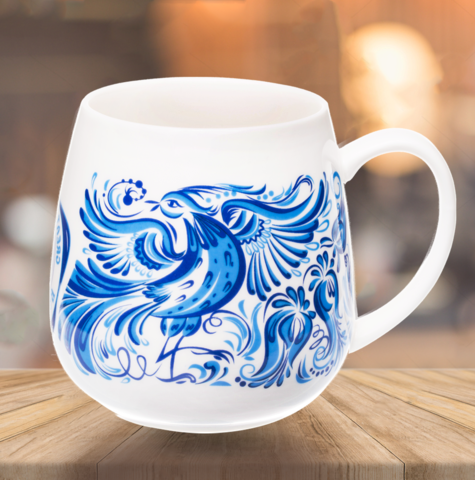 Кружка ВЕЛИКОРОСС «Синяя Птица» вид слева
