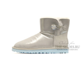 UGG MINI BAILEY BUTTON BLING METALLIC TURQ