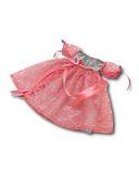 Платье из парчи и гипюра - Розовый. Одежда для кукол, пупсов и мягких игрушек.