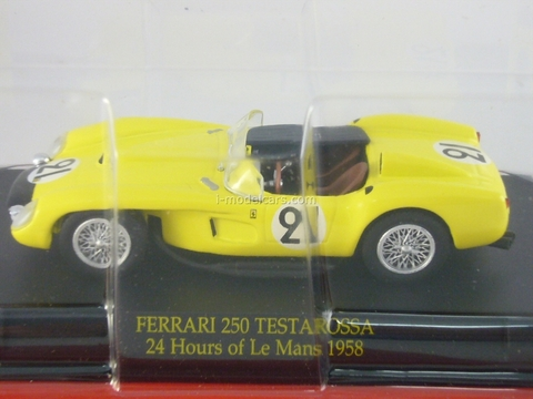 Ferrari 250 TR 58 1958 yellow 1:43 Eaglemoss Ferrari Collection #68