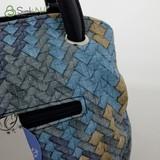 Сумка Саломея 278 плетенка синяя